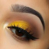 Make Up; Look; Make Up Looks; Make Up Augen; Make Up Prom;Make Up Face; Brown Smokey Eye Makeup, Light Eye Makeup, Yellow Eye Makeup, Makeup Eye Looks, Yellow Eyeshadow, Eye Makeup Steps, Eye Makeup Art, Colorful Eye Makeup, Makeup Salon