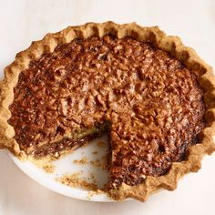Bourbon Chocolate-Walnut Pie by Food Network Kitchen Chocolate Bourbon, Chocolate Pies, Pie Recipes, Dessert Recipes, Party Recipes, Family Recipes, Holiday Recipes, Just Desserts, Sweets