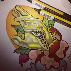Fun in progress :) 🙏 😊 ✋#godseye #promarker #neotraditional