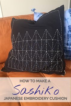 Here's a Sashiko Quilting Tutorial. Sashiko is a type of traditional Japanese embroidery. It started out as a way to strengthen cotton and linen fabrics.