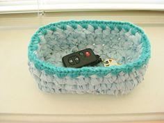 Crochet Rag Bowl  Small Crochet Bowl  Comic Book by RoseJasmine