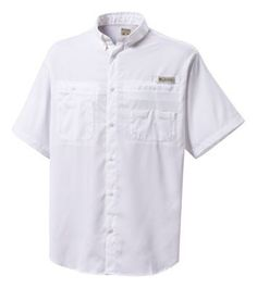 f808e1689fb16 Columbia Tamiami II Short Sleeve Shirt for Men - White - 2XL Camisas  Columbia