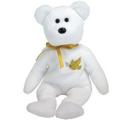 TY Beanie Baby - HOLY FATHER the Bear;Gold Hang