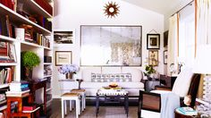 The Best Solutions for Maximizing Your Small Space// antique mirror, bookshelves