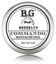 Commando Mustache Wax by Brooklyn Grooming (2oz Wax)