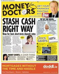 Irish Daily Star – Money Doctor column Thursday 20th May 2021 Q Daily Star, Mortgage Rates, Bank Account, Thursday, Irish, Finance, Money, Stars, Doctors