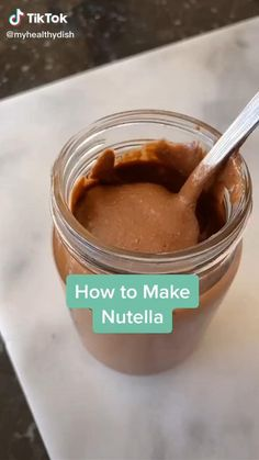 Do you want to make your own homemade and healthier version of Nutella at home? Did you know that making your own Nutella is very easy? Watch this Easy Homemade Nutella Recipe Food TikTok by @myhealthydish Homemade Nutella Recipes, Fun Baking Recipes, Aesthetic Food, Food Videos, How To Make Nutella, Food To Make, Food Porn, Yummy Food, Cooking