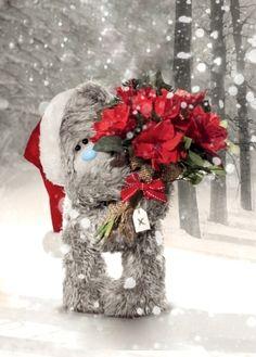 Thank you so much my dear friend Cynthia J. Teddy Images, Teddy Bear Pictures, Tatty Teddy, 3d Christmas, Vintage Christmas, Das Abc, Blue Nose Friends, Happy Birthday Jesus, Bunny And Bear