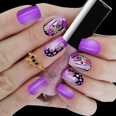 modelo exclusivo Summer Toe Nails, Spring Nails, New Nail Art Design, Nail Art Designs, Bath And Beyond Coupon, How To Cook Steak, All Things Purple, Fabulous Nails, Short Nails