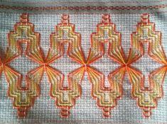 Swedish Weaving Patterns, Swedish Embroidery, Cat Cross Stitches, Hello Kitty Wallpaper, Bead Loom Patterns, Bargello, Christmas Cross, Loom Beading, Sewing Hacks