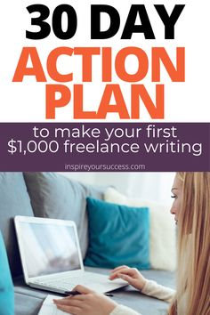 I break down a 4-week, 30 day plan to earn your first $1,000 writing. If you've been struggling to hit your freelancing goals, you'll love this one. #freelancing #freelancer #writing