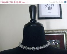 NEW SALE Absolutely Gorgeous Crystal Necklace W/Antique by MICSJWL
