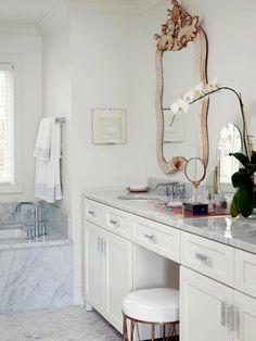The bathroom experts at HGTV.com share chic makeup vanities and dressing tables from top interior designers.
