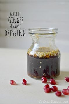 Garlic Ginger Sesame Dressing Recipe.