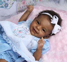 "Baby Girl ""Sunny"" by Joanna K. Reborn Baby Girl, Reborn Babies Black, Bb Reborn, Reborn Toddler Dolls, Newborn Baby Dolls, Reborn Dolls, Silicone Baby Dolls, Silicone Reborn Babies, African American Baby Dolls"