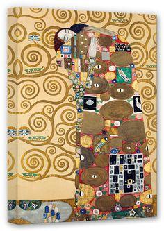 Die Erfüllung' von Gustav Klimt ist Teil des berühmten Stoclet-Frieses, das im gleichnamigen Palais in Brüssel um 1911 montiert wurde.  Artikeldetails:  Größe: (B/H): 50/80 cm,  Material/Qualität:  100% Baumwolle,  Qualitätshinweise:  Auf festes Canvas aus 100% Baumwolle gedruckt, Für viele Jahre Farbecht,  Wissenswertes:  Inkl. Aufhängung auf der Rückseite,  ...