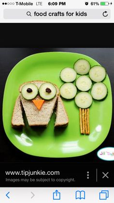 I love this it is so cute how the sandwich makes an owl