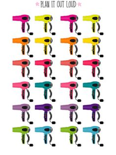Hairdryer stickers (Erin Condren Stickers)