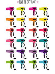 Hairdryer stickers (Erin Condren Stickers)