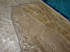 Six different shades created this flagstone design Pool Deck in Cape Coral FL