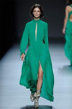 by Teresa Helbig Green Dress, Beautiful Dresses, Wonderland, Duster Coat, Jackets, Fashion, Vestidos, Fiestas, Weddings