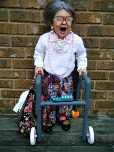 Aslynn's little old lady costume.