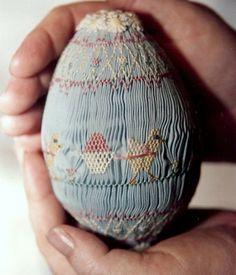 Large Hand Smocked Egg by MyHeritagebyMarsha on Etsy, $45.00