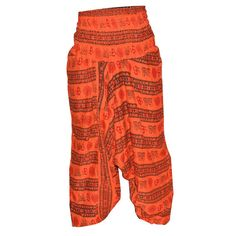 Orange wide leg trouser / tartan trouser/ Harem Pants/ Women