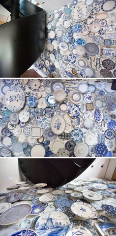 Wall Decor Idea – Create An Accent Wall By Filling It With Plates