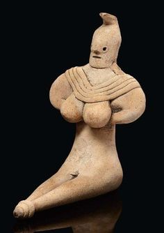 Indus Valley terracotta statuette of a seated woman. Mehgarh Culture, ca. 3000 B.C.