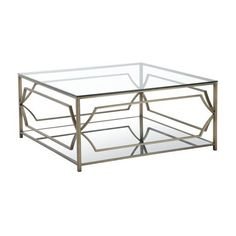 Pangea Home Edward Square Coffee Table ($649) ❤ Liked On Polyvore Featuring  Home,