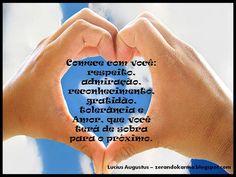 respeito, admiração, gratidão, amor