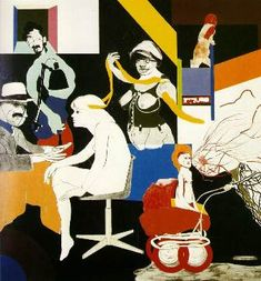 All though an oilpaintin, Kitaj is one of my favourite draughtsmen. R B Kitaj - The Ohio Gang 1964 Kb); The Museum of Modern Art, New York Cultura Pop, Robert Rauschenberg, Contemporary Abstract Art, Arte Pop, Art Database, Museum Of Modern Art, Art Plastique, Figure Painting, Painting Collage