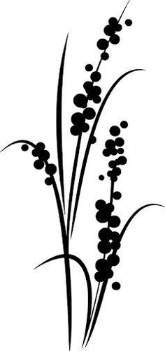 Ideas For Wood Burning Stencils Printables Ideas Flower Silhouette, Silhouette Design, Grass Silhouette, Stencil Patterns, Stencil Designs, Stencil Templates, Wood Burning Patterns, Motif Floral, Pyrography