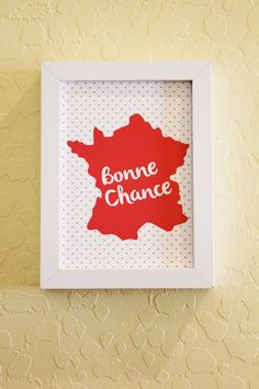 French Print Bonne Chance by ShopCF on Etsy, $7.00