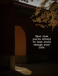 That risk you're afraid to take could change your life. You Changed, Wisdom, Movie Posters, Life, Instagram, Quotes, Quotations, Film Poster, Quote