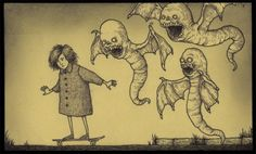 Wonderfully creepy post it note drawings. Many more through link