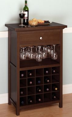 Wine Cabinet with Drawer and Glass Holder...ooh...this might work...Jon, where are you? I have a project for you! : )