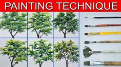 This is a basic painting tutorial on how to paint different trees using different types of brushes. In this tutorial you will learn on painting 6 different t. Basic Painting, Acrylic Painting Lessons, Simple Acrylic Paintings, Beginner Painting, Painting Videos, Acrylic Art, Painting Tips, Painting Techniques, Artist Painting