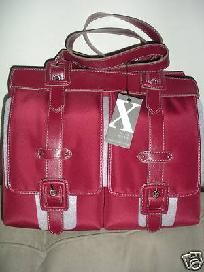 New Womens Red Maxx New York Handbag for this and more visit me at www.dandeepop.com