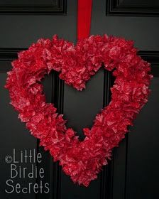 Easy Valentine Wreath