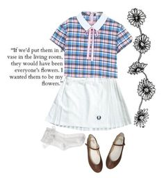 flowers by nymphet-dream on Polyvore featuring polyvore, мода, style, Fred Perry, Monsoon, vintage, fashion and clothing
