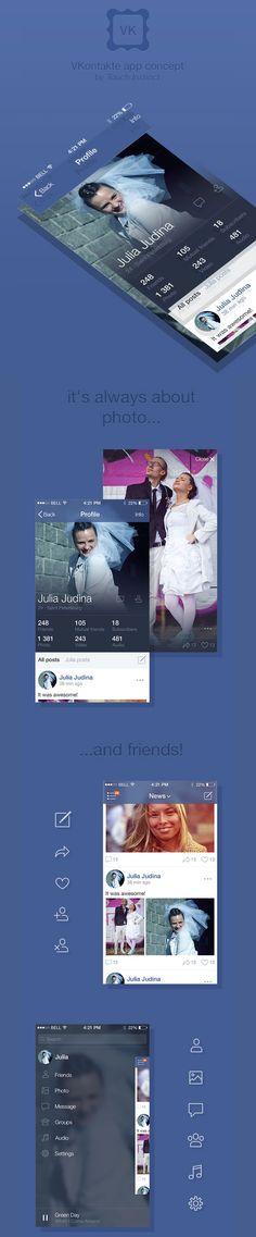 VKontakte app concept by Touch Instinct
