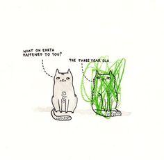 I adore Gemma Correll's cats!