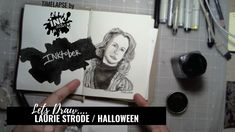 Laurie Strode from Halloween - Bad Ass Ladies of Horror - Inktober 2018 - Timelapse Art Inktober, Badass, Horror, Draw, Halloween, Lady, Sketches, Painting, Halloween Labels