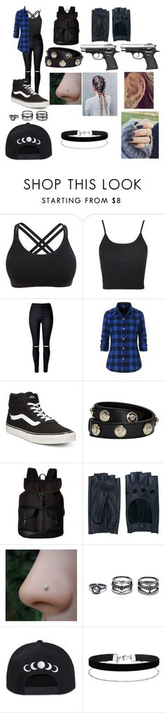 """Alessia1"" by emilypaul0400 on Polyvore featuring Topshop, Vans, Versace, Zanellato, LULUS and Miss Selfridge"