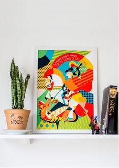 Borogodó: ilustrações tupiniquins trazem muitas cores, design e santos! - Follow the Colours
