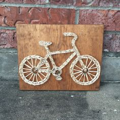 Bicycle String Art Sign
