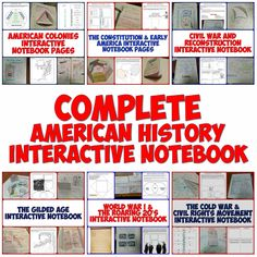 This bundle features Interactive Notebook pages forALL of American History from the early colonies through to the Modern United States! There are over 100 Interactive Notebook pages of graphic organizers, creative foldables, timelines, and more!