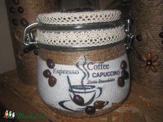Meska - Kávés csatos üveg domcsicsi68 kézművestől